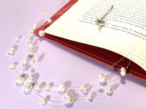 PEARL STRING LIGHTS - Love Letter Jewelry - 925 Sterling Silver Jewelry - Organic Pearl Jewelry