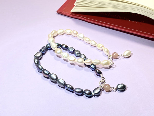 FANCY - Love Letter Jewelry - 925 Sterling Silver Jewelry - Organic Pearl Jewelry