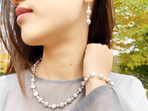 CONNECTED BY SELF-LOVE - Love Letter Jewelry - 925 Sterling Silver Jewelry - Organic Pearl Jewelry