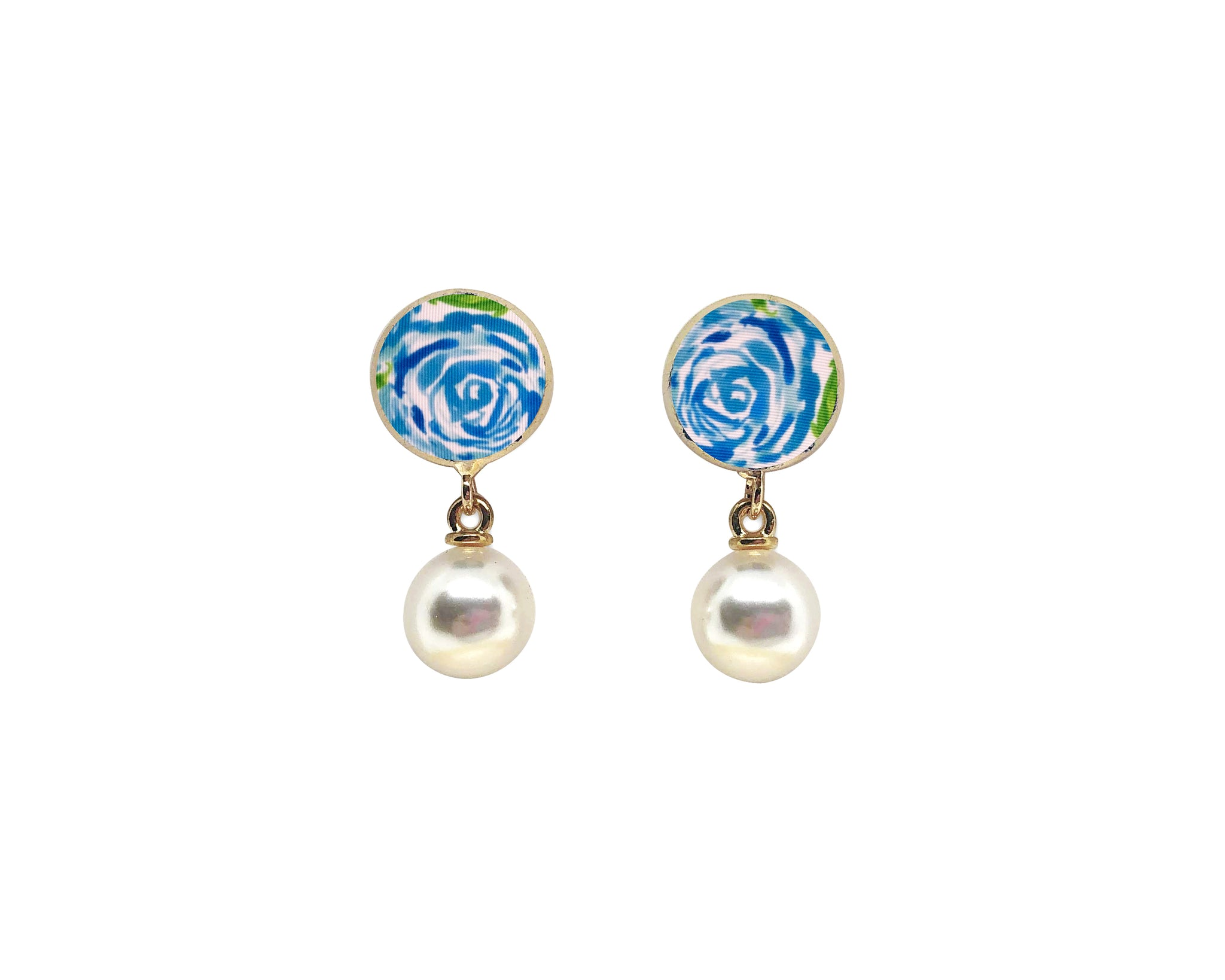 Lilly Pulitzer Inspired Studs - First Impression