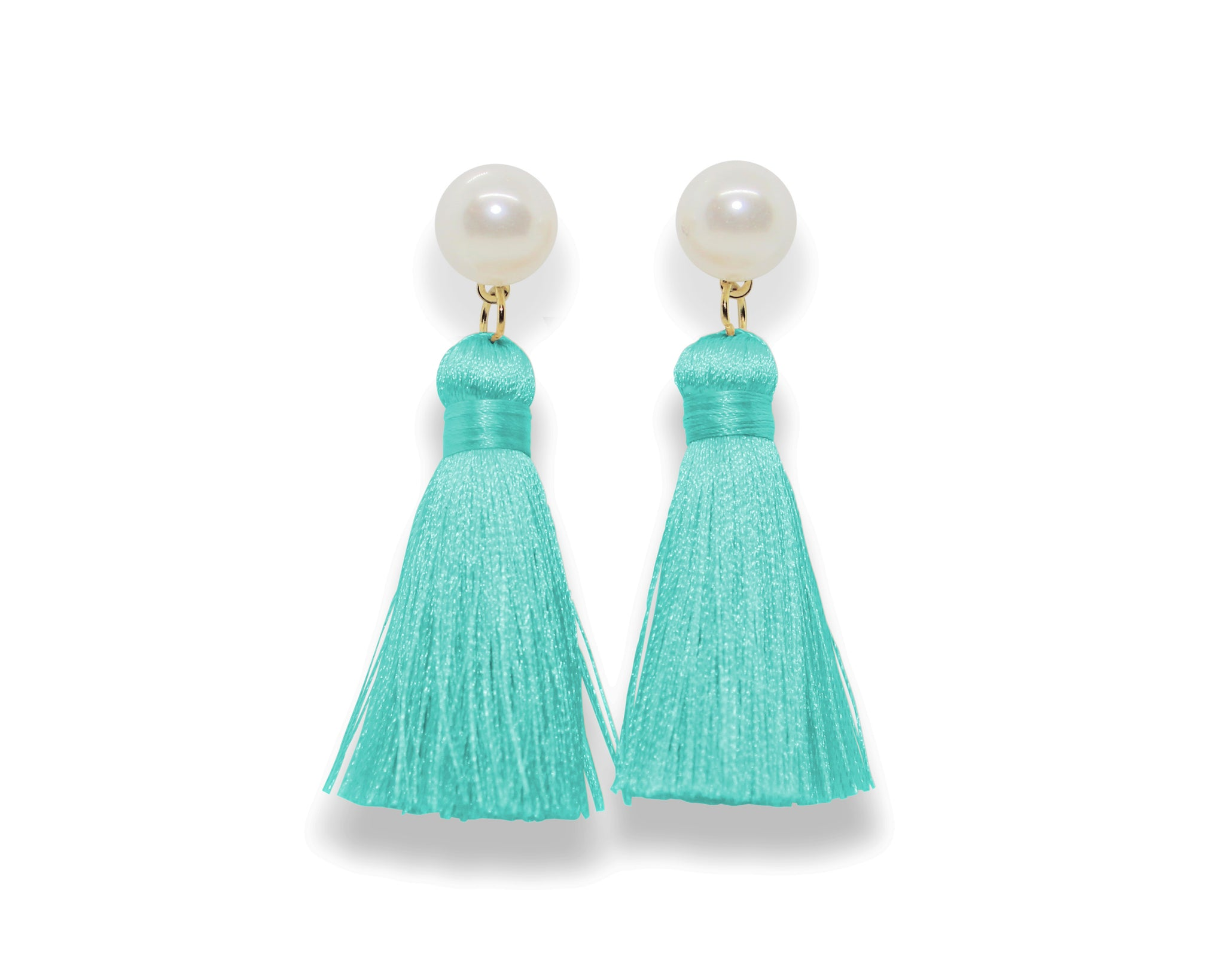 Pearl Tassel Earrings | Sea Salt
