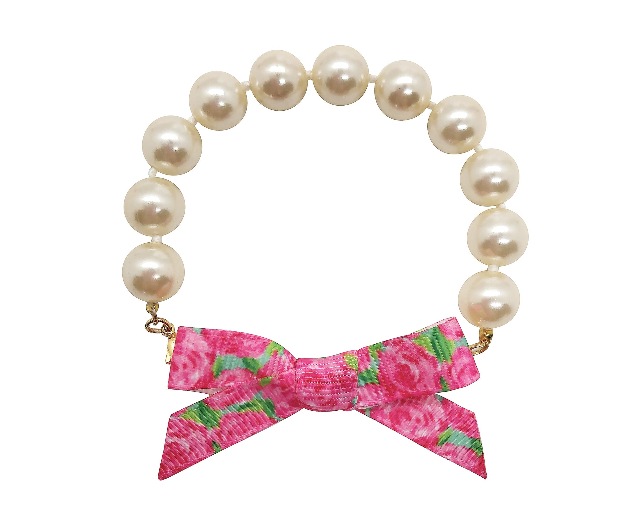 Lilly Pulitzer Inspired Bow Pearl Bracelet | Hotty First Impression