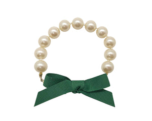 Hunter Bow Pearl Bracelet