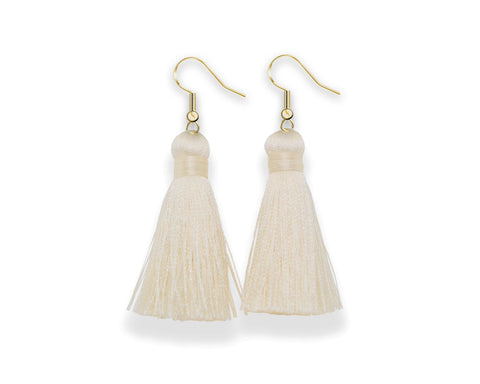 Dangle Tassel Earrings | Ivory