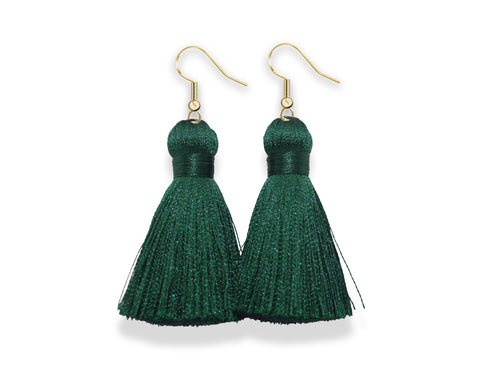 Dangle Tassel Earrings | Jade