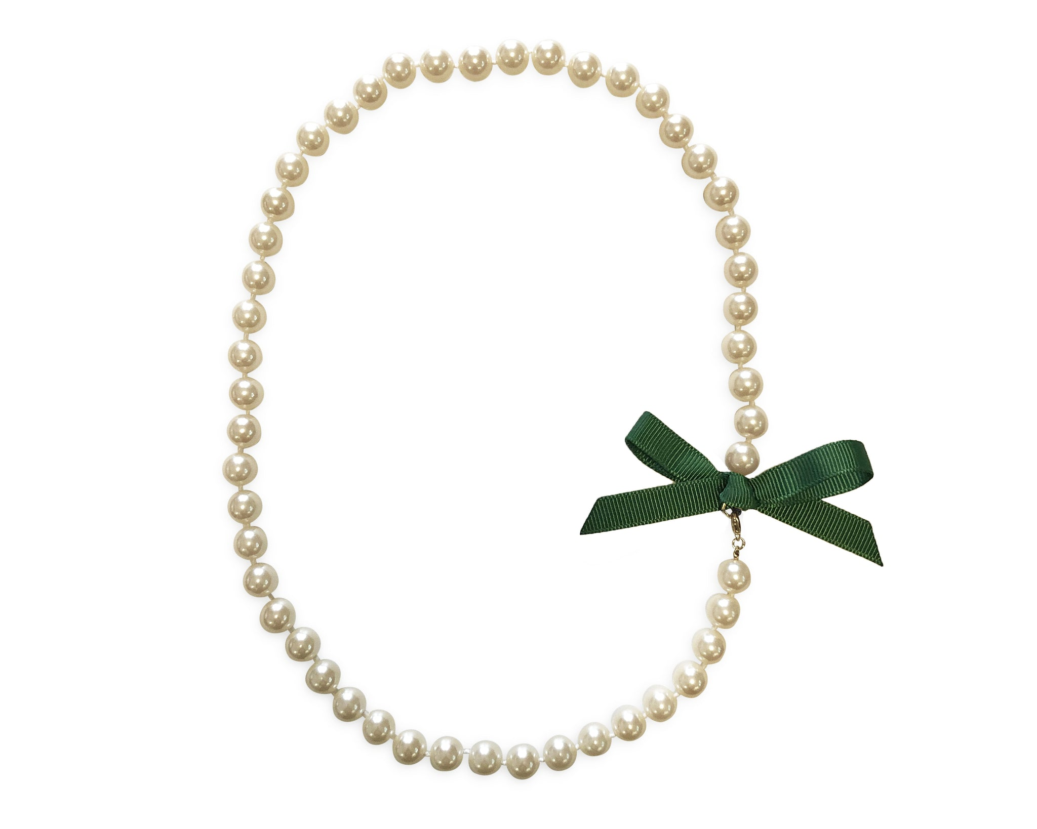 Hunter Bow Pearl Necklace