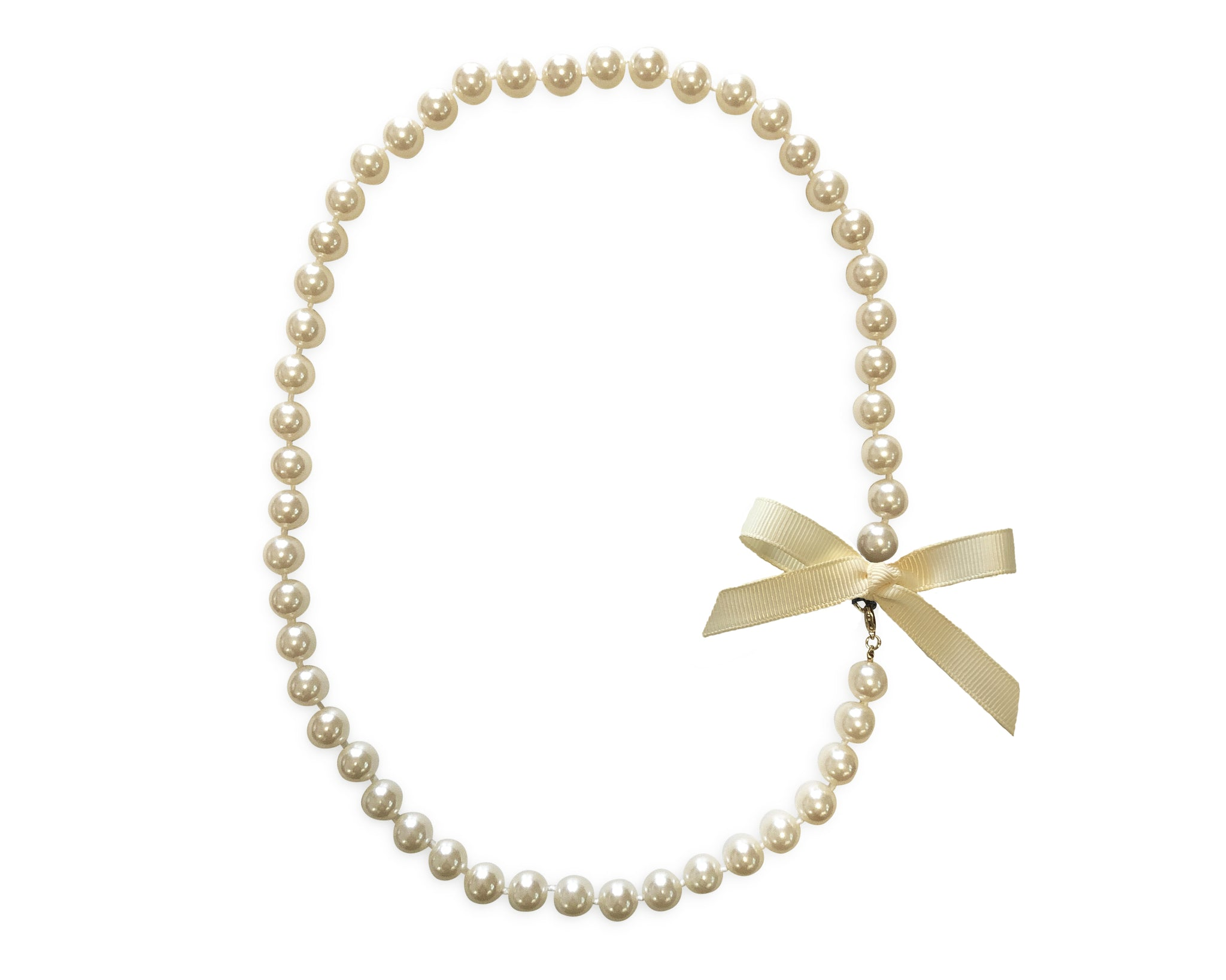 Ivory Bow Pearl Necklace