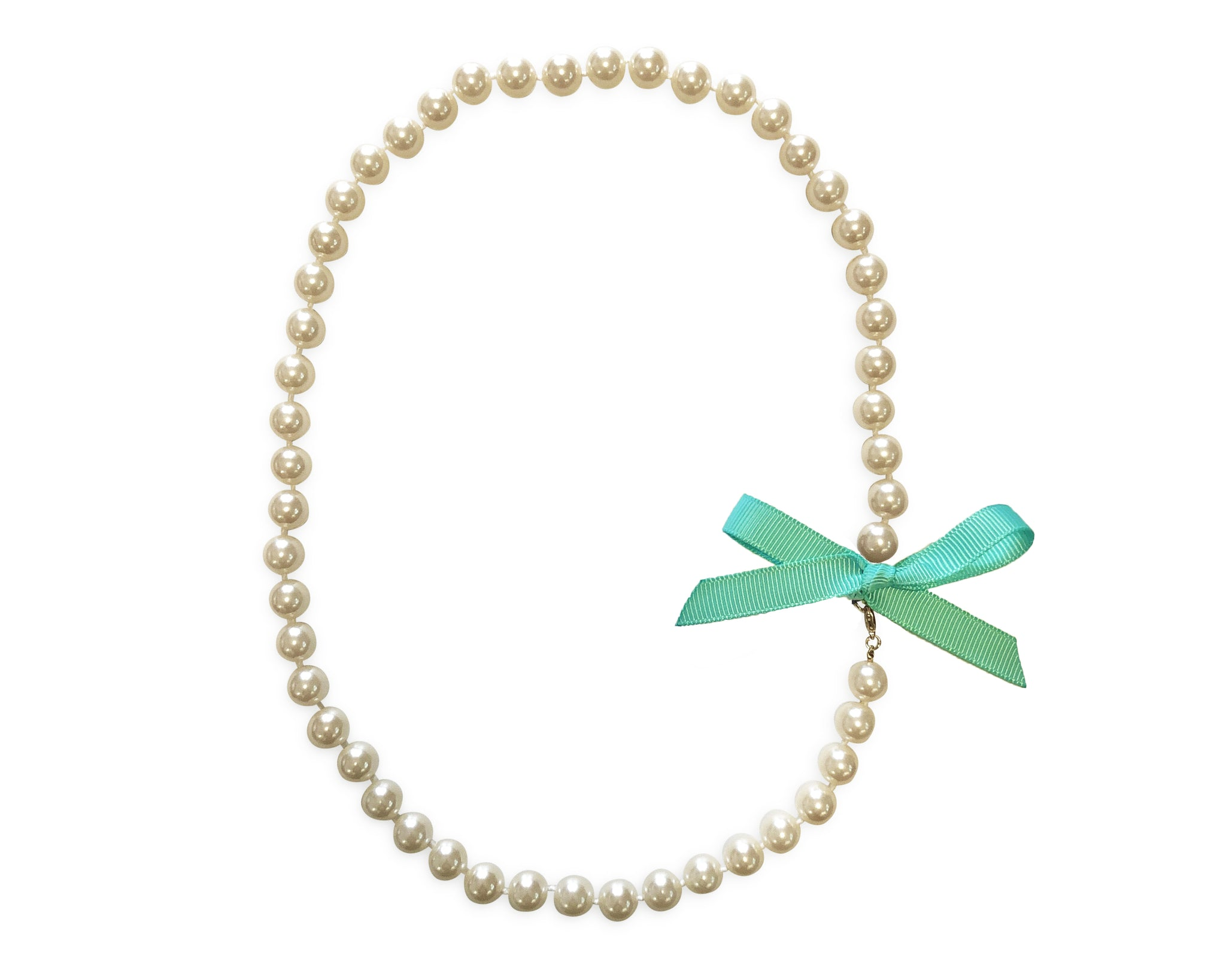 Sea Salt Bow Pearl Necklace