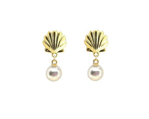 Scallop Shell Drop Pearl