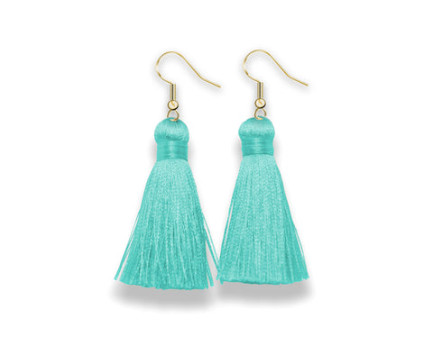 Dangle Tassel Earrings | Sea Salt