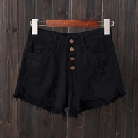 Women's High Waist Denim Booty Shorts - Fashionpheeva