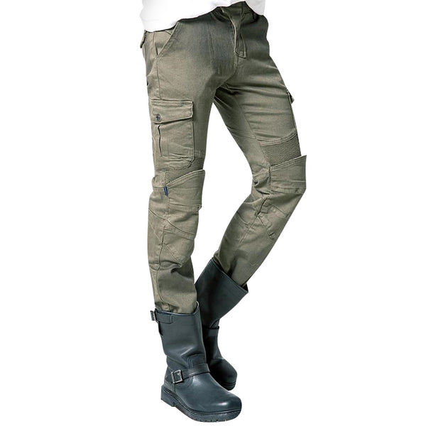 Mens Green Moto Jeans - Fashionpheeva