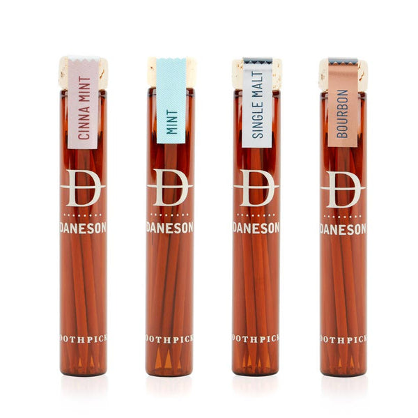 Every Blend 4-Pack Toothpicks (Single Malt, Bourbon, CinnaMint and Mint flavors)
