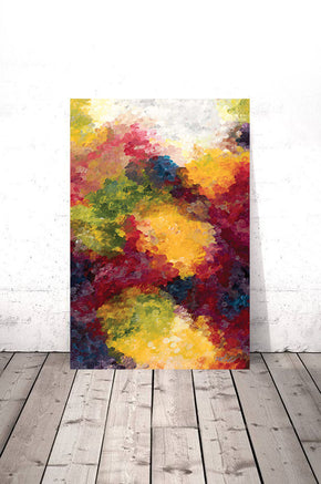 Abstract Gummies Portrait (Canvas Print)