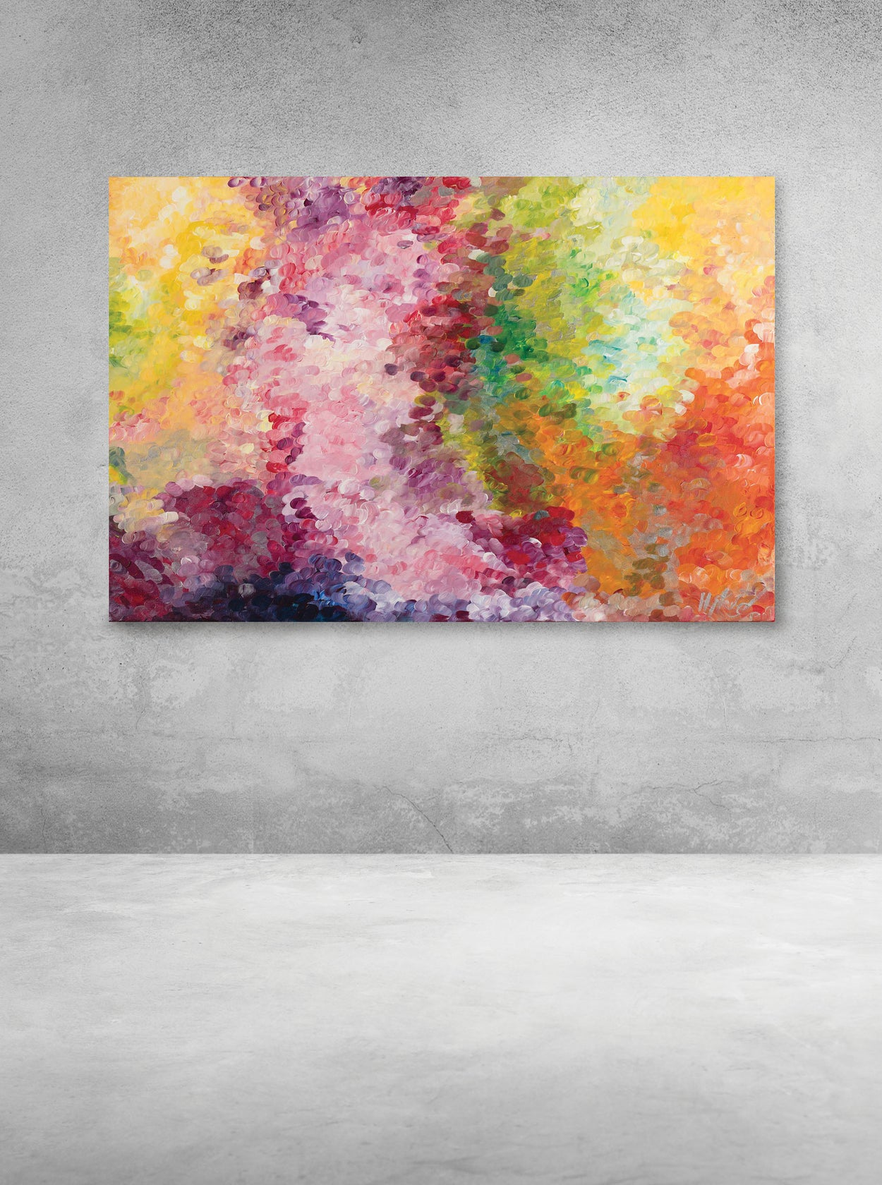Abstract Sherbet Fizz (Original Painting)