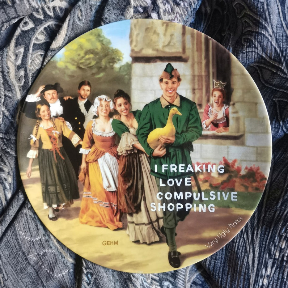 compulsive shopping wall plate