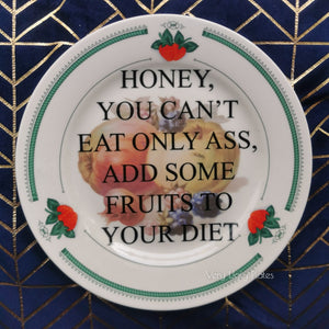 ass diet food safe plate