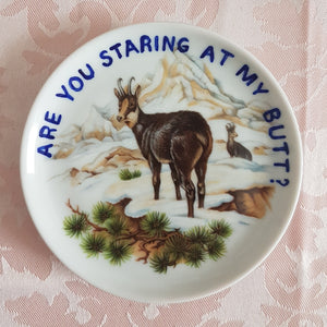 are you staring at my butt mini wall plate