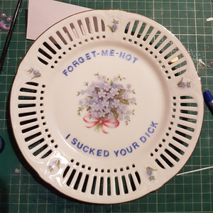 forget me not wall plate