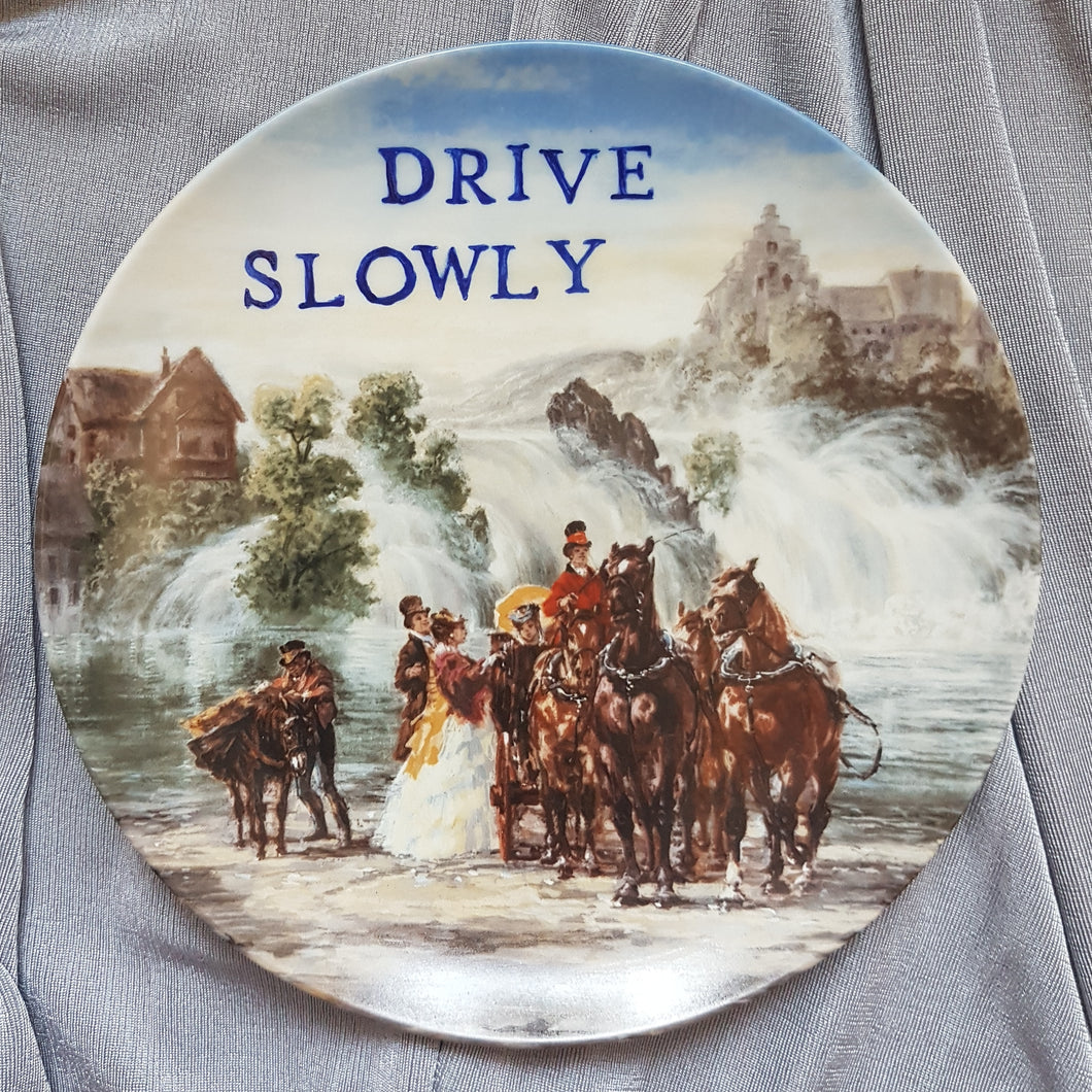 drive slowly wall plate