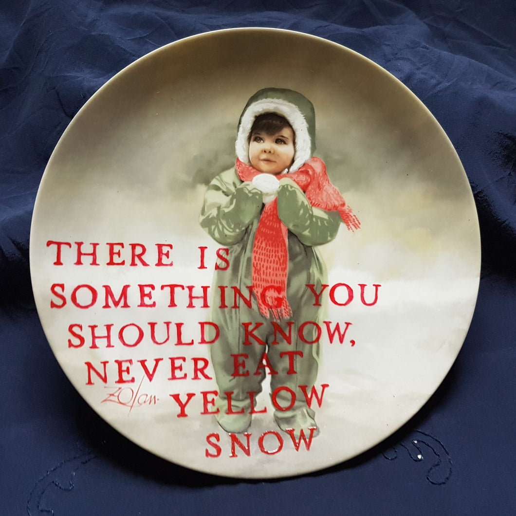 yellow snow wall plate
