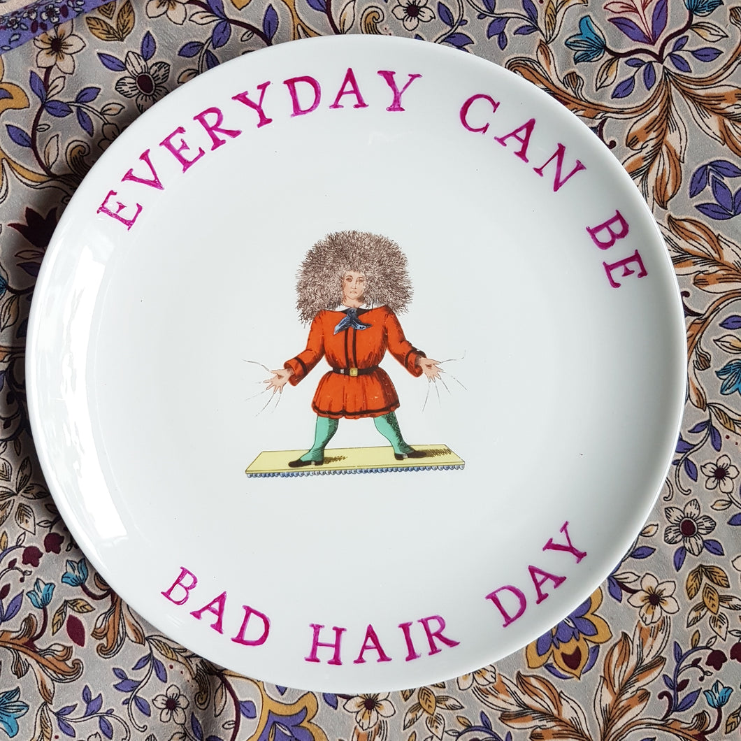 bad hair day wall plate