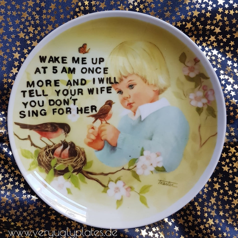 wake me up wall plate