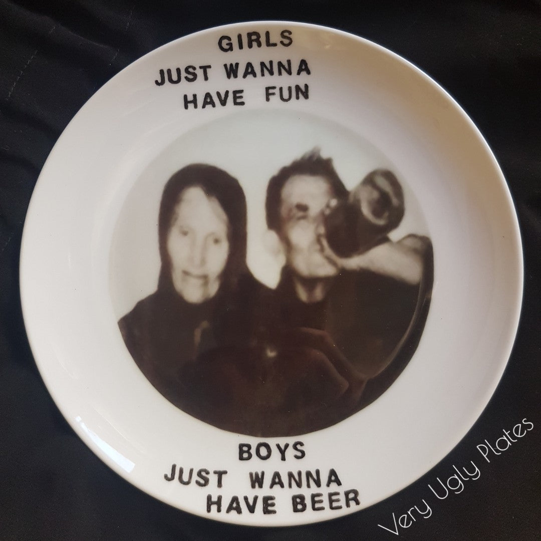 girls just wanna have fun wall plate