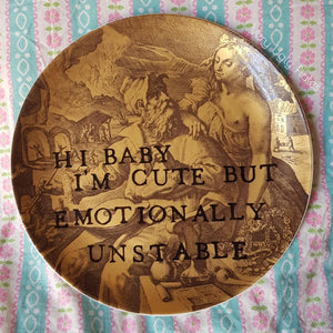 emotionally unstable wall plate