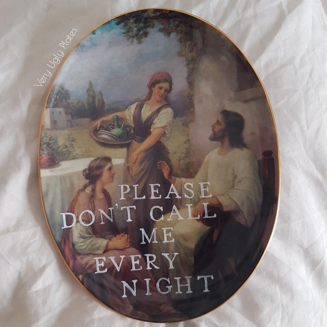 don't call me every night wall plate