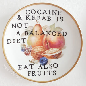 cocaine and kebab wall plate
