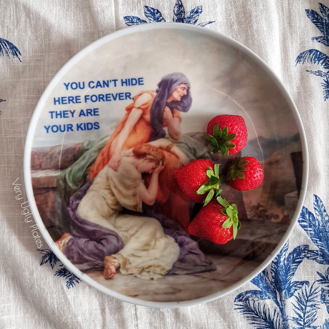 you can't hide food safe plate