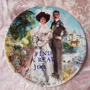find a real job wall plate
