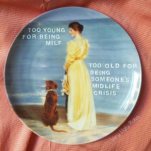 too young for being milf wall plate