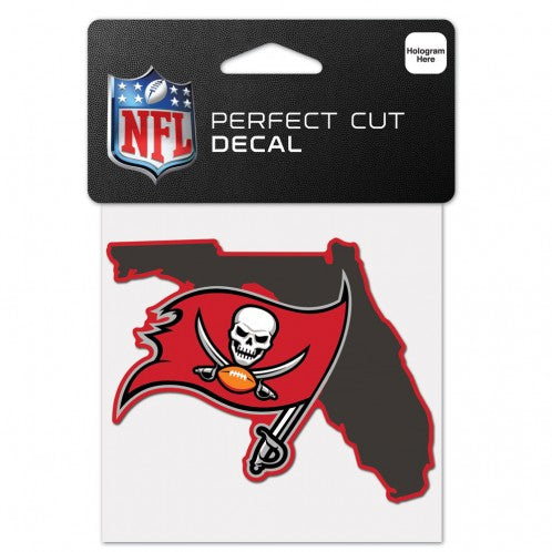 TAMPA BAY BUCCANEERS STATE SHAPED PERFECT CUT COLOR DECAL 4