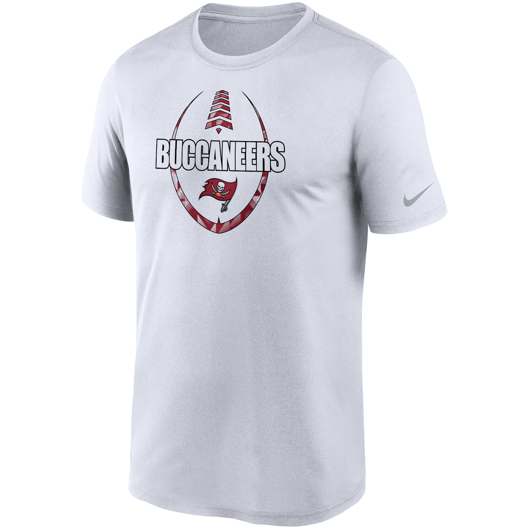 Men's Nike White Tampa Bay Buccaneers Fan Gear Team Icon Performance T-Shirt