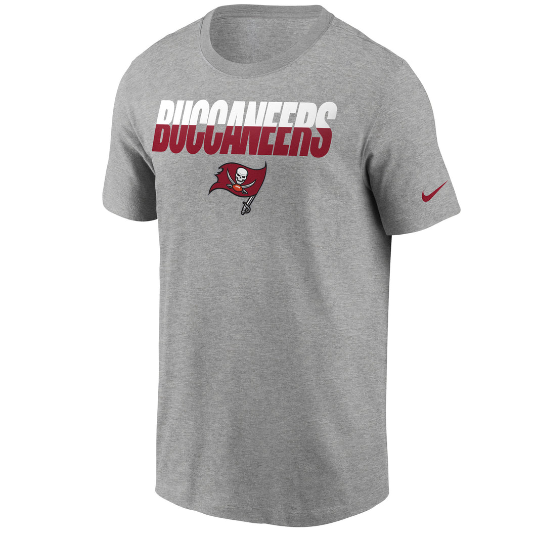 Men's Nike Grey Tampa Bay Buccaneers Spilt T-Shirt