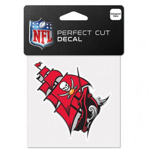 "TAMPA BAY BUCCANEERS SECONDARY LOGO SHIP PERFECT CUT COLOR DECAL 4"" X 4"""
