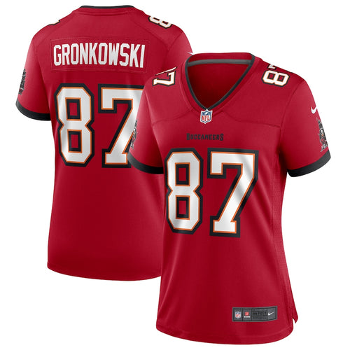 Women's Nike Rob Gronkowski Red Tampa Bay Buccaneers Game Jersey