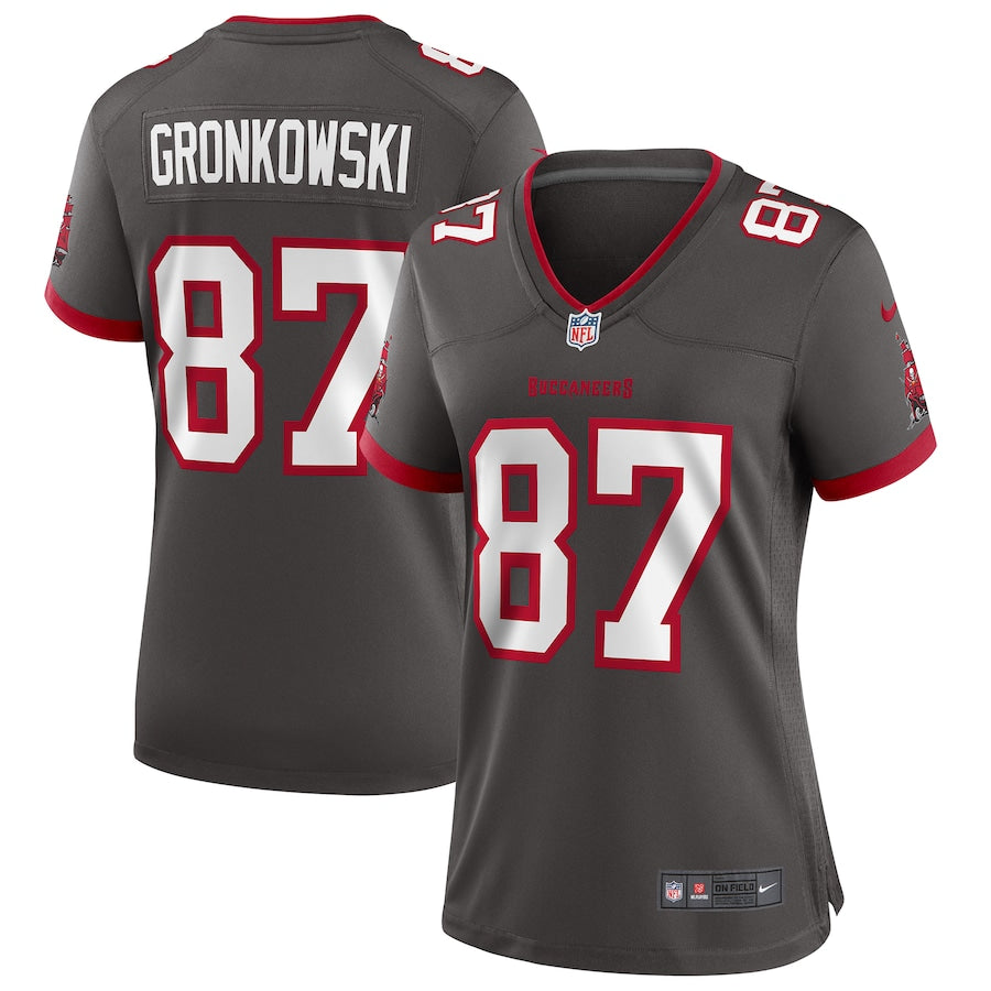 Women's Nike Rob Gronkowski Pewter Tampa Bay Buccaneers Alternate Game Jersey