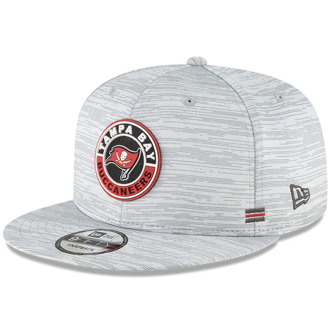 Men's New Era Gray Tampa Bay Buccaneers 2020 NFL Sideline Official 9FIFTY Snapback Adjustable Hat