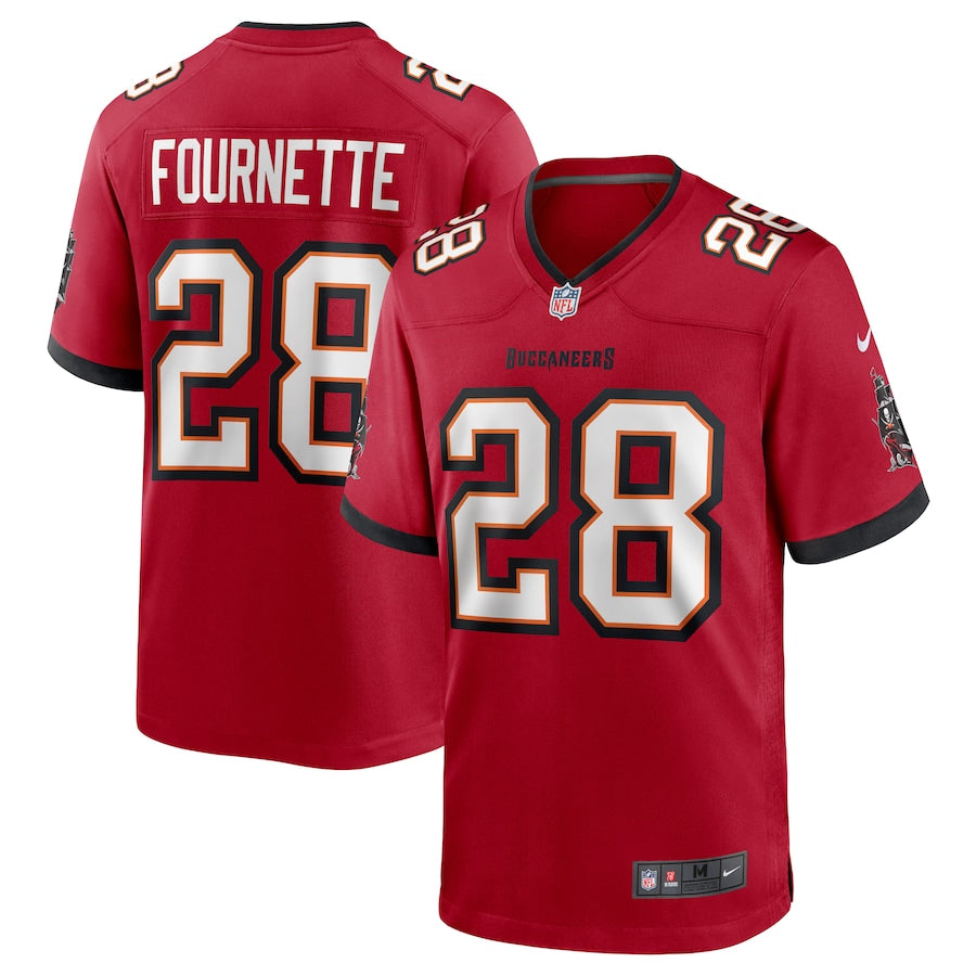 Men's Nike Leonard Fournette Red Tampa Bay Buccaneers Game Player Jersey