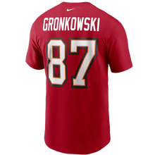 Load image into Gallery viewer, Men's Nike Rob Gronkowski Tampa Bay Buccaneers Player Name & Number T-Shirt - Red