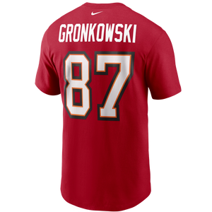 Men's Nike Rob Gronkowski Tampa Bay Buccaneers Player Name & Number T-Shirt - Red