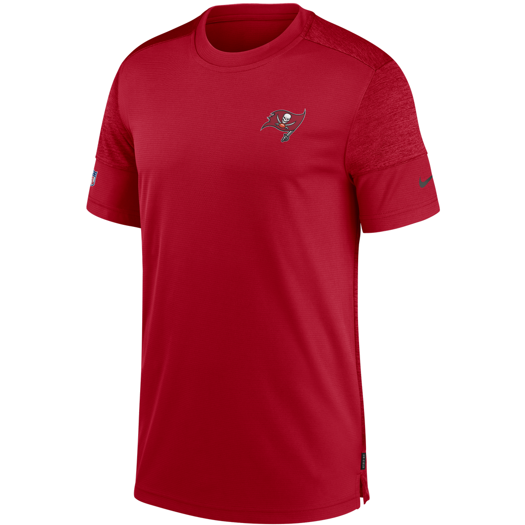 Men's Tampa Bay Buccaneers Nike Red/Heathered Red Coach UV Performance T-Shirt