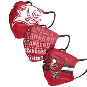 Adult FOCO Tampa Bay Buccaneers Matchday Face Covering 3-Pack