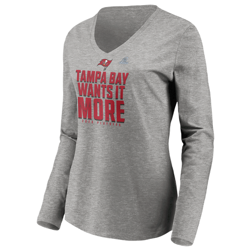 TAMPA BAY BUCCANEERS W PLAYOFF 20 LONG SLEEVE TEE - GRAY