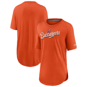 Women's Nike Orange Tampa Bay Buccaneers Historic Logo Weekend Tri-Blend T-Shirt