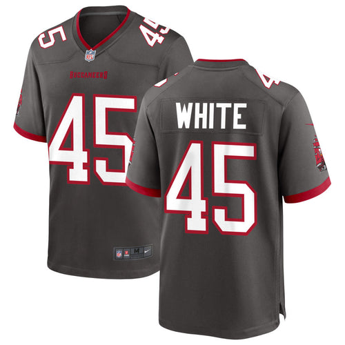Men's Nike Devin White Pewter Tampa Bay Buccaneers Game Player Jersey