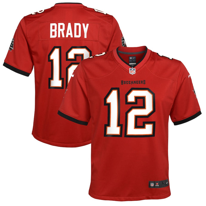 Youth Nike Tom Brady Red Tampa Bay Buccaneers Game Jersey
